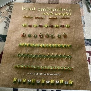 Bead Embroidery Stitch Samples and Lessons